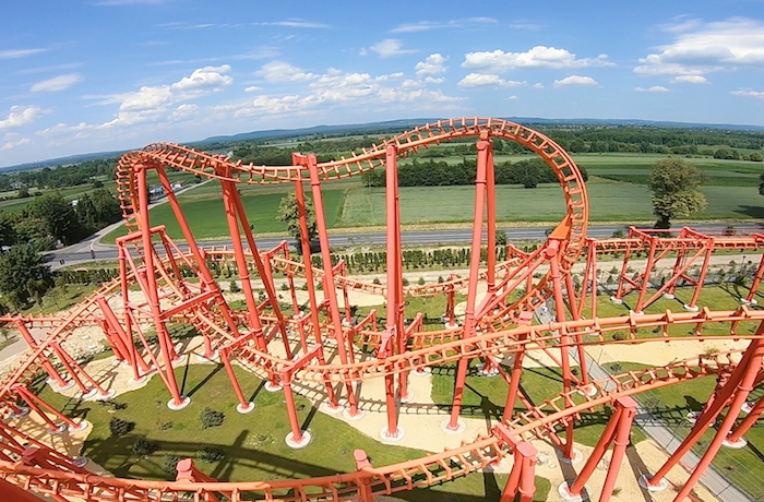 biggest roller coaster in Poland